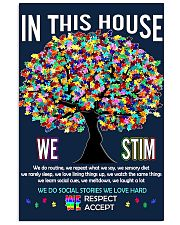 Autism awareness in this house 11x17 Poster front