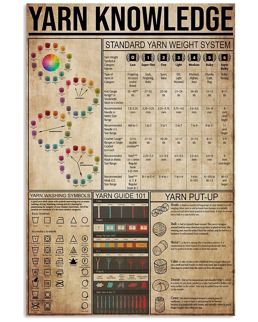 Yarn Knowledge 11x17 Poster