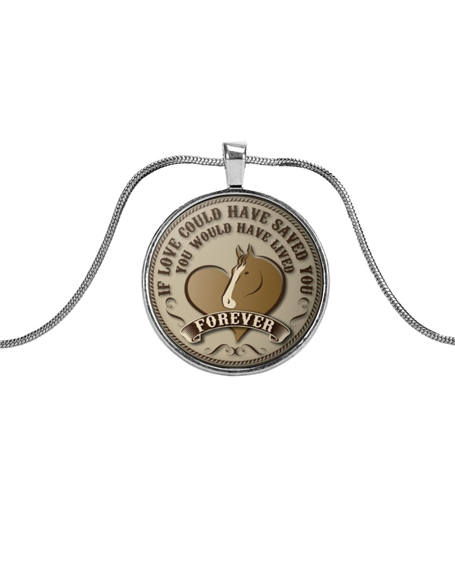 Horse Girl - If love could have saved you Metallic Circle Necklace