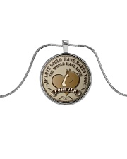 Horse Girl - If love could have saved you Metallic Circle Necklace front
