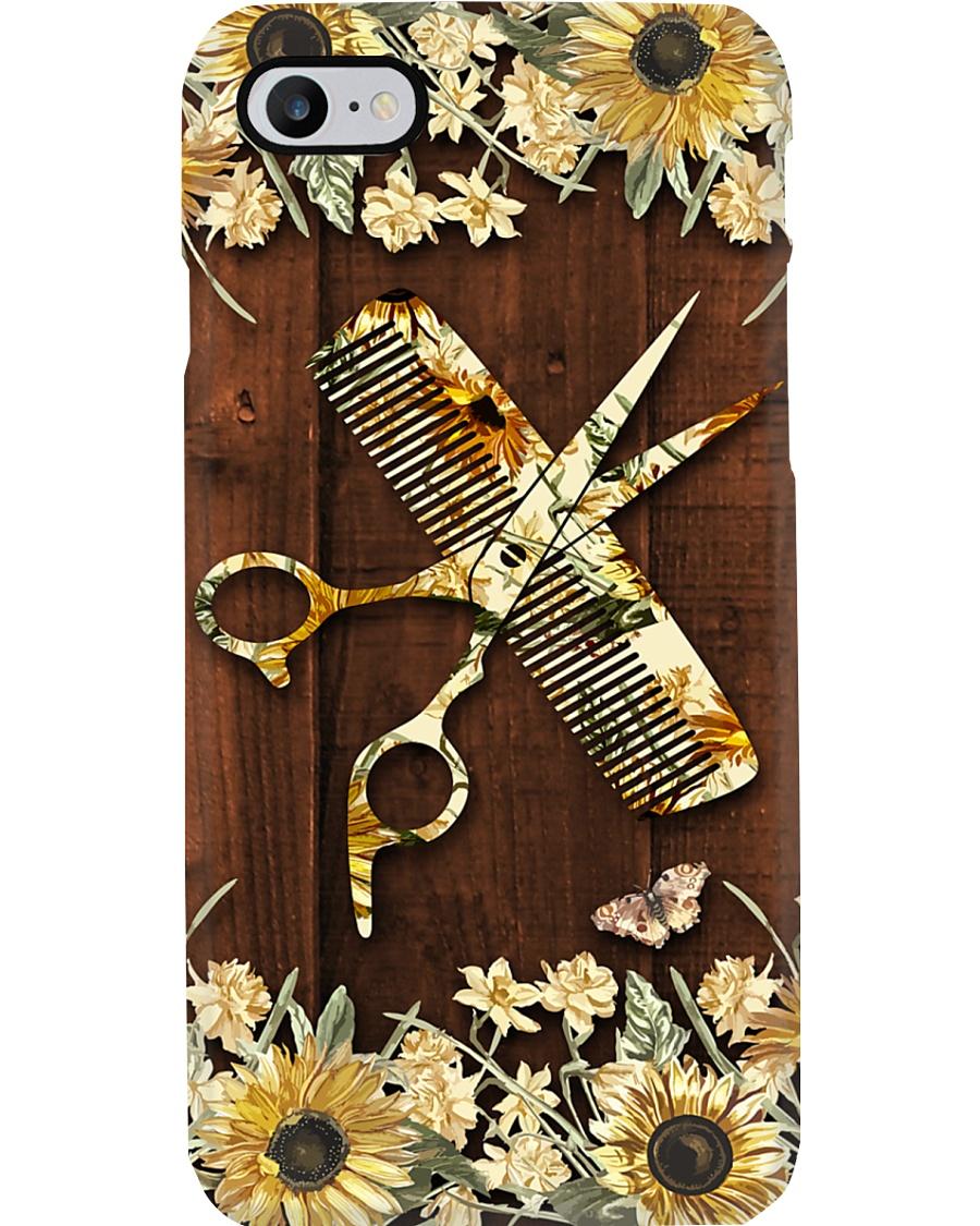 Hairdresser Vintage Flowery Tools Phone Case