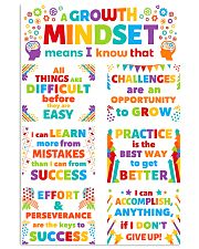 Growth Mindset Colorful Teacher 11x17 Poster front