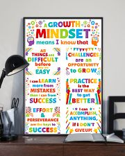 Growth Mindset Colorful Teacher 11x17 Poster lifestyle-poster-2