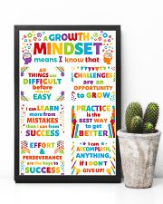 Growth Mindset Colorful Teacher 11x17 Poster lifestyle-poster-8