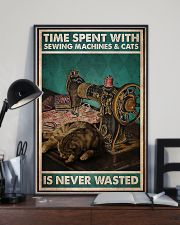 Time Spent With Sewing Machines And Cats 11x17 Poster lifestyle-poster-2