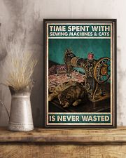 Time Spent With Sewing Machines And Cats 11x17 Poster lifestyle-poster-3