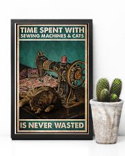 Time Spent With Sewing Machines And Cats 11x17 Poster lifestyle-poster-8