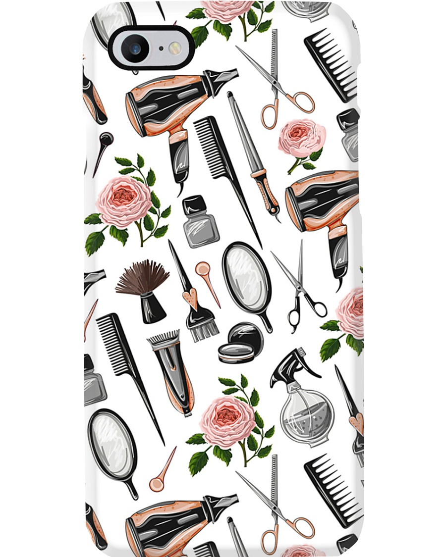 Hairdresser Vintage Flower Tools Phone Case