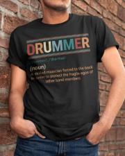 Drummer Vintage  Classic T-Shirt apparel-classic-tshirt-lifestyle-26
