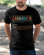 Drummer Vintage  Classic T-Shirt apparel-classic-tshirt-lifestyle-front-50