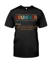 Drummer Vintage  Classic T-Shirt front