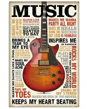 Vintage Terms Music Guitar 11x17 Poster front