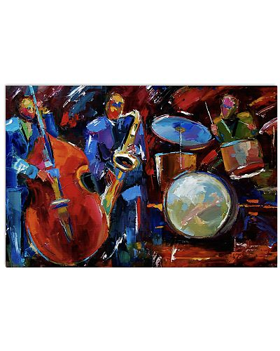 Contrabass Jazz Band Painting Art