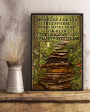 Librarian Books Give A Soul To The Universe 11x17 Poster lifestyle-poster-3
