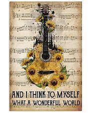Wonderful World Guitar 11x17 Poster front