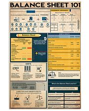 Accountant Balance Sheet 101 11x17 Poster front