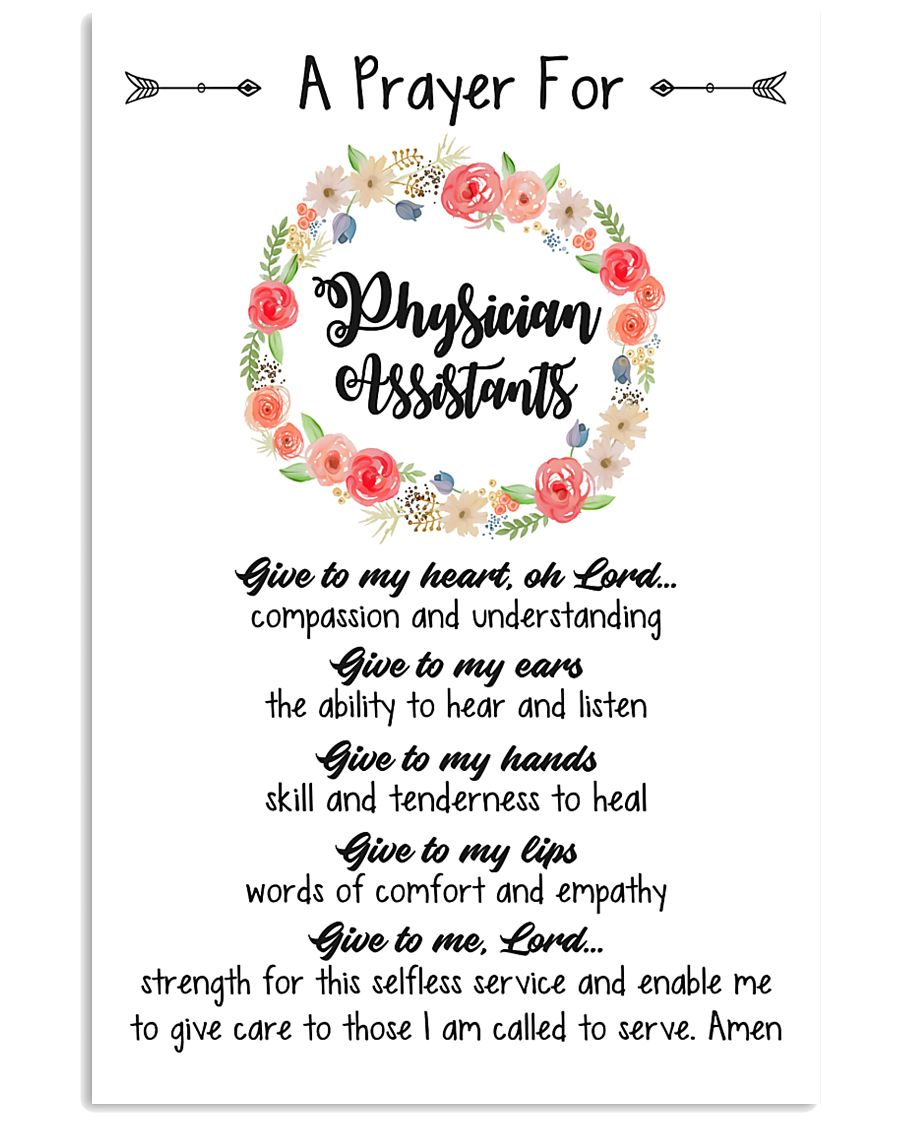 A prayer for Physician Assistants 11x17 Poster