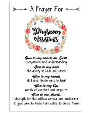 A prayer for Physician Assistants 11x17 Poster front