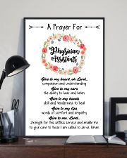 A prayer for Physician Assistants 11x17 Poster lifestyle-poster-2