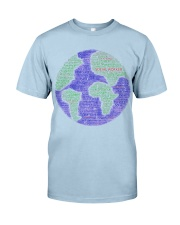 Social Worker Wording Globe Classic T-Shirt thumbnail