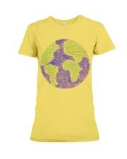 Social Worker Wording Globe Premium Fit Ladies Tee thumbnail