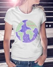 Social Worker Wording Globe Ladies T-Shirt lifestyle-women-crewneck-front-7