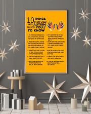 Autism Awareness 10 things Poster 24x36 Poster lifestyle-holiday-poster-1