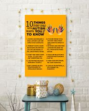 Autism Awareness 10 things Poster 24x36 Poster lifestyle-holiday-poster-3
