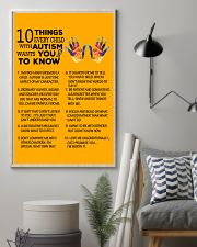 Autism Awareness 10 things Poster 24x36 Poster lifestyle-poster-1