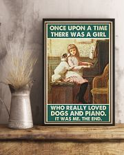 Pianist A Girl Who Really Loved Dogs And Piano 11x17 Poster lifestyle-poster-3