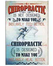 Chiropractor makes you heal better 11x17 Poster front