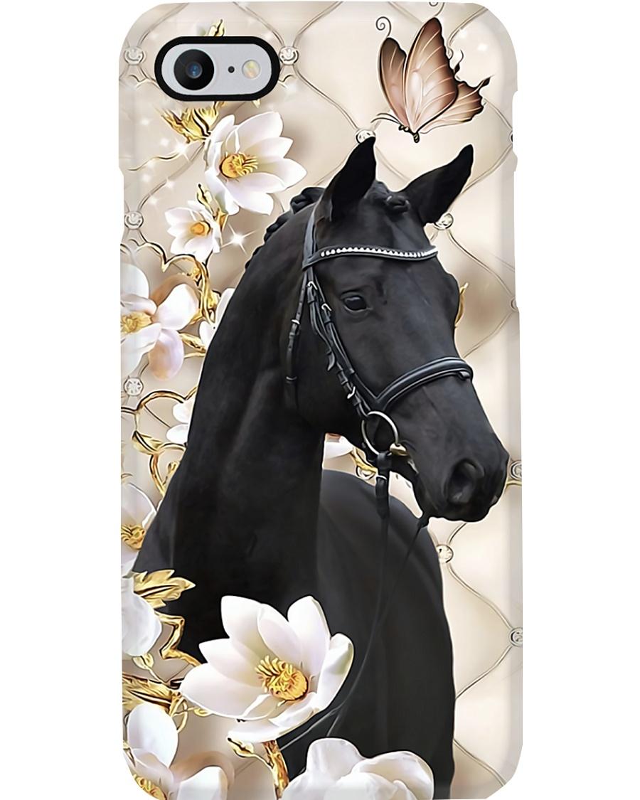 Horse Girl - Black Horse Phone Case