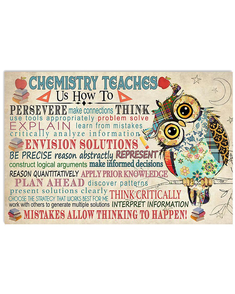 Chemist Chemistry teaches us 17x11 Poster
