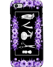 Hairstylist Tools And Purple Flowers Art Phone Case i-phone-7-case