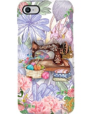 Sewing Purple Flower Machine Phone Case i-phone-7-case