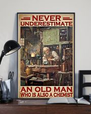 Chemistry Never Underestimate An Old Man 11x17 Poster lifestyle-poster-2