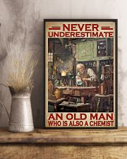 Chemistry Never Underestimate An Old Man 11x17 Poster lifestyle-poster-3