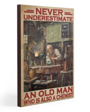 Chemistry Never Underestimate An Old Man 20x30 Gallery Wrapped Canvas Prints thumbnail