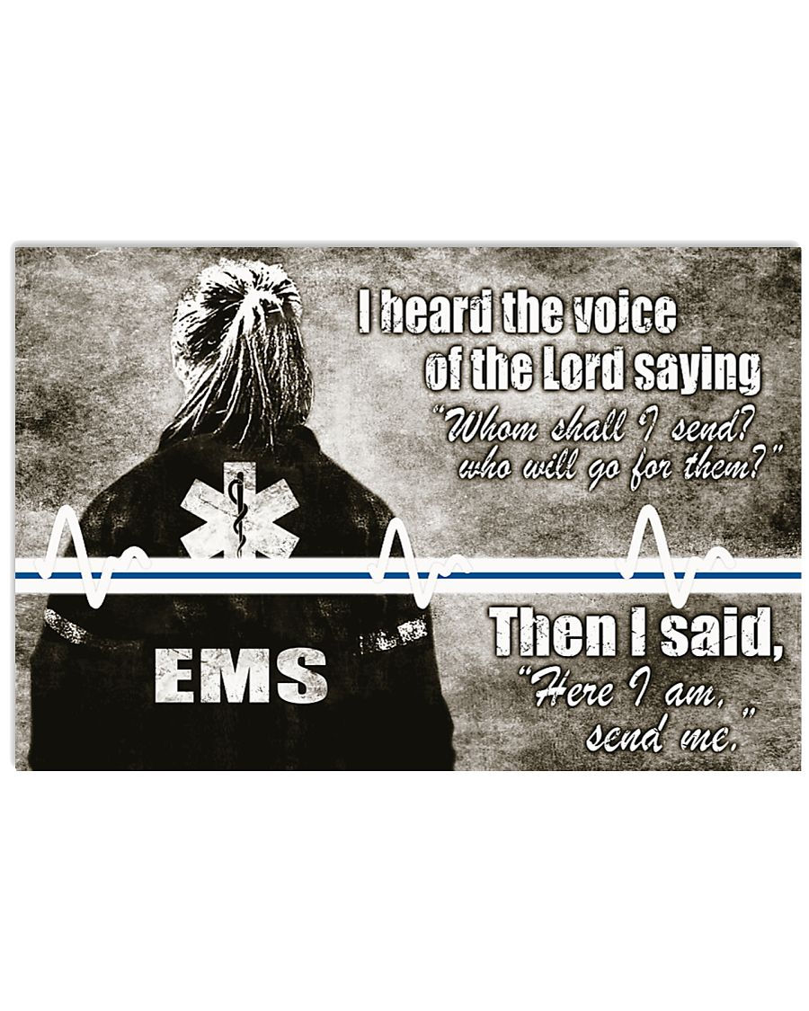Paramedic I heard the voice of the Lord 17x11 Poster