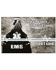Paramedic I heard the voice of the Lord 17x11 Poster front