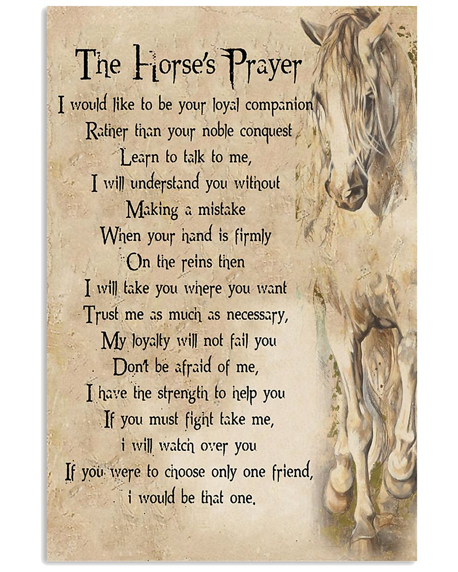 The Horse's Prayer Horse Girl's Gift 11x17 Poster