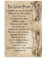 The Horse's Prayer Horse Girl's Gift 11x17 Poster front