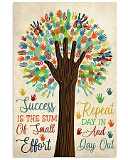 Teacher Success Is The Sum Of Small Effort 11x17 Poster front