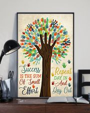 Teacher Success Is The Sum Of Small Effort 11x17 Poster lifestyle-poster-2