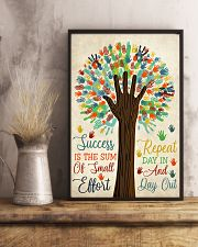 Teacher Success Is The Sum Of Small Effort 11x17 Poster lifestyle-poster-3