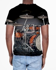Drummer Gift Red Drum Set All-over T-Shirt aos-all-over-T-shirt-lifestyle-back-02