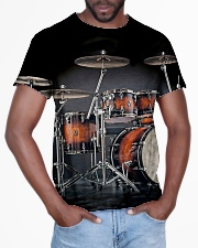 Drummer Gift Red Drum Set All-over T-Shirt aos-all-over-T-shirt-lifestyle-front-03