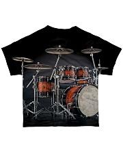 Drummer Gift Red Drum Set All-over T-Shirt back