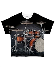 Drummer Gift Red Drum Set All-over T-Shirt front
