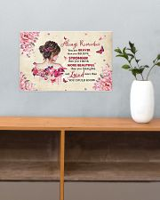 Breast Cancer Always Remember You Are Braver 17x11 Poster poster-landscape-17x11-lifestyle-24